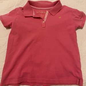 Lilly Pulitzer pink polo for girls